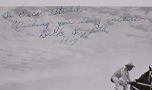 Rodeo Hall of Famer Dick Griffith on His horse leaping Over Converible (inscribed By Dick Griffith ...