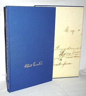 Einstein's 1912 Manuscript on the Special Theory: Einstein, Albert