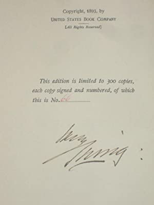 The Drama; Addresses (Limited to 300 Copies and Signed By the Actor): Irving, Sir Henry, 1838-1905