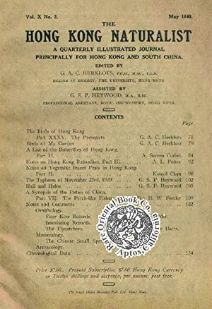 THE HONG KONG NATURALIST. A Quarterly Illustrated: HERKLOTS, G.A.C. ed.