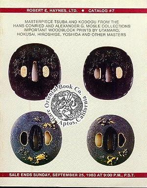 EXHIBITION CATALOG #07. Masterpieces Tsuba and Kodogu: HAYNES, Robert E.