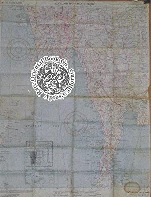 A.A.F. CLOTH MAP ASIATIC SERIES: No. 34: ARMY MAP SERVICE.