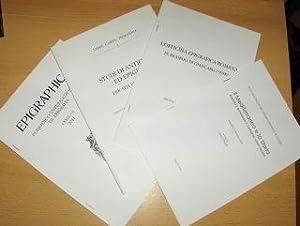 KONVOLUT v. 4 HEFTE EPIGRAPHIK (Italienischer Sprache): Chioffi, Laura, Angela-Gabriella