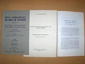 2 TITELN v. M. TH. RAEPSAET-CHARLIER : Raepsaet-Charlier, Marie-Therese: