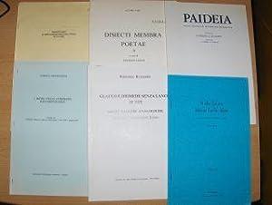 KONVOLUT v. 6 HEFTE IN ITALIENISCH: Aldo