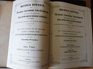 MUSICA DIVINA Sive Thesaurus Concentuum Selectissimorum omni: Proske *, Carolus