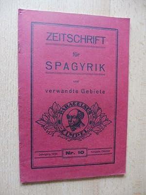 ZEITSCHRIFT FÜR SPAGYRIK und verwandte Gebiete. 5.: Müller (Apotheker), Carl