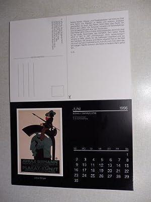 Kalender mit 12 Postkarten 1996: Jüdische Plakate: Jerke, Birgit und