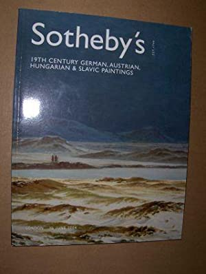 SOTHEBY`S 19TH CENTURY GERMAN, AUSTRIAN, HUNGARIAN & SLAVIC PAINTINGS *. London, 15 June 2004.