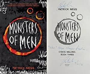 MONSTERS OF MEN Signed, Lined & Dated: Patrick Ness
