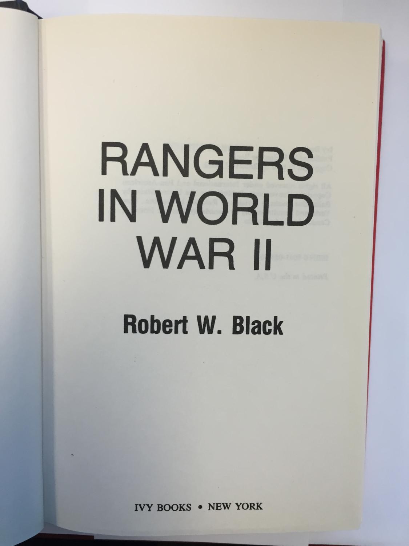 rangers in world war ii black robert w