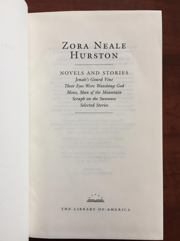 ... Zora Neale Hurston : Novels and Stories : Jonah's Gourd Vine / Their  Eyes Were Watching ...