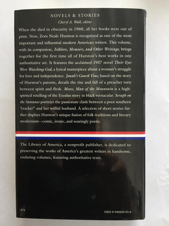 ... Zora Neale Hurston : Novels and Stories : Jonah's Gourd Vine / Their  Eyes Were Watching