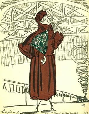 Croquis de Modes par Raoul Dufy: Soieries de Bianchini-Ferier et Cie: Dufy, Raoul