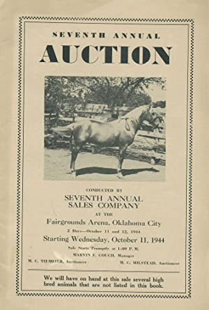 Seventh Annual Auction [Saddlebred, Palomino horses]