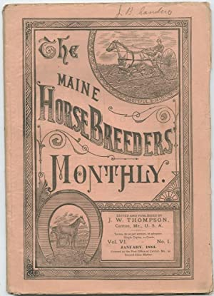 Maine Horse Breeders' Monthly: 1884 [11 issues]