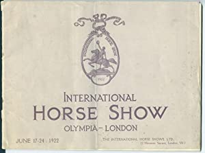 International Horse Show Prize List [Olympia, London, 1922]: International Horse Shows, Ltd.