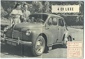 4 CV Luxe [advertising flyer, ca. 1960]