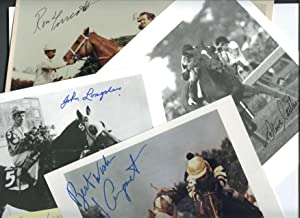 Kentucky Derby Photos All Signed by Jockeys [group of 15]: Photographs]