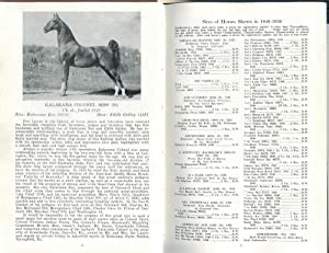 Official Record of Show Horse Sires and Dams 1949-1950 [Saddlebred]: Horst, Katharine Kay; Official...