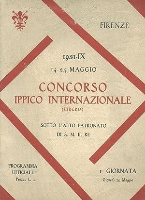 Concorso Ippico Internazionale [1931/IX] [Italian Show Jumping Program]: Federazione Nationale...