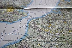 MAP: USAF Operational Navigation Chart, ONC E-2, Austria, Belgium, Czechoslovakia, Denmark, France,...
