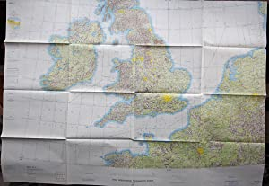 MAP: USAF Operational Navigation Chart, ONC E-1, Belgium, Denmark, France, Federal Republic of ...