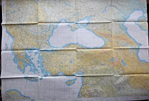 MAP: USAF Jet Navigation Chart, JN22 (Black Sea, Caspian Sea, Ukraine, Romania, Bulgaria, Greece, ...