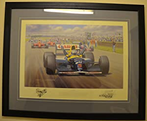 VICTORY - Limited Edition Print Signed By Nigel Mansell And Tony Smith