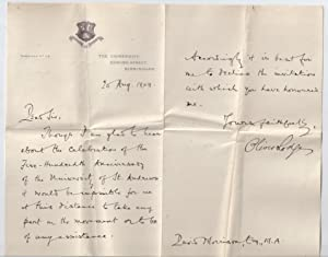 Oliver Lodge Letter to David Morrison