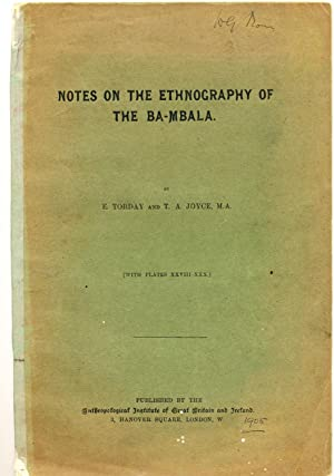 Notes on the Ethnography of the Ba-Mbala
