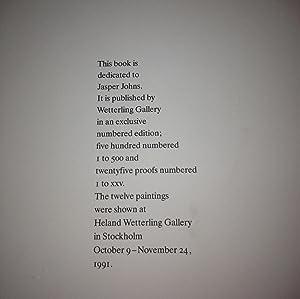 Jasper Johns. Chalk Charcoal Ink Paper Pastel Pencil Watercolor 1990: Jasper Johns. David Sylvester