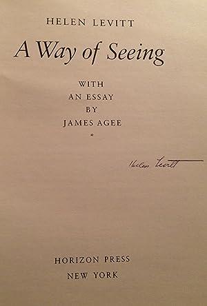 A Way of Seeing (Signed): Levitt, Helen (photographs