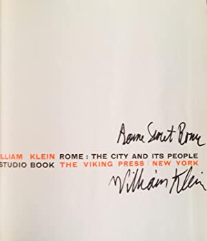 Rome: The City and Its People (Signed): KLEIN, WILLIAM