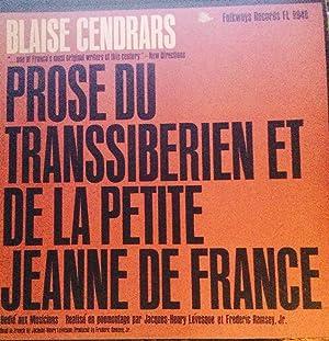 Cendrars, Blaise. Prose du Transsiberien et de la petite Jeannne de France (Vinyl record): Cendrars...