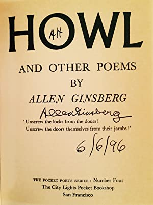 Howl and Other Poems (Signed): Ginsberg, Allen