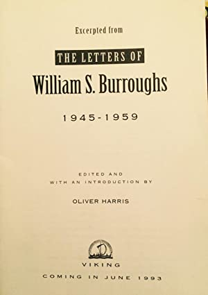 The Letters of William S. Burroughs 1945-1959 (An Excerpt): Burroughs, William S., and Harris, ...
