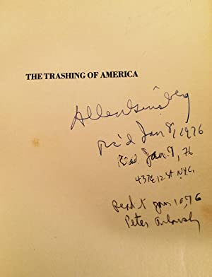 Trashing of America (Signed): Plymell, Charles. Allen Ginsberg and Peter Orlovsky