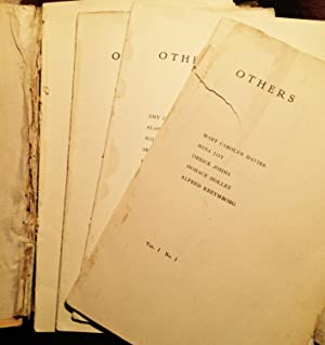 OTHERS. An Anthology of the New Verse. Assorted isasues: Kreymborg, Alfred