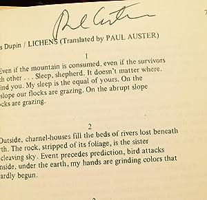 SUN. DOUBLE SUN. VOL 3. Numbers 2 & 3. (Signed by Paul Auster): Bill Zavatsky, Editor. Paul ...