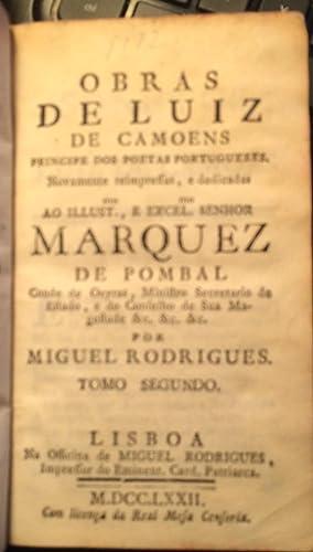 Obras de Luiz de Camoens ( Vol 2): Luís de Camões