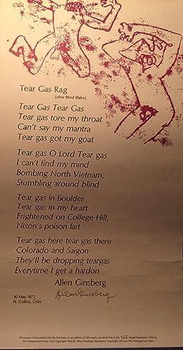 TEAR GAS RAG (Signed): ALLEN GINSBERG, BROADSIDE