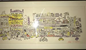 Discount Store. Red Grooms. Color Lithograph, pen: Red Grooms