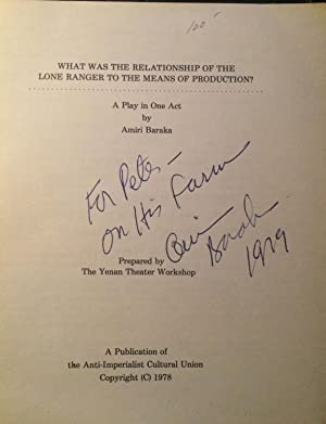 WHAT WAS THE RELATIONSHIP OF THE LONE: Baraka, Amiri (Signed)