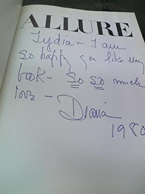 Allure (Inscribed and Signed): VREELAND, Diana