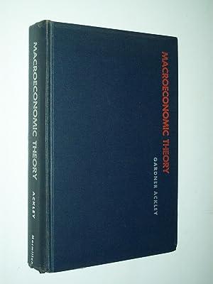 Macroeconomic Theory: Gardner Ackley