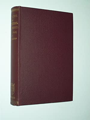 Select Statutes and Other Constitutional Documents Illustrative of the Reigns of Elizabeth and Ja...