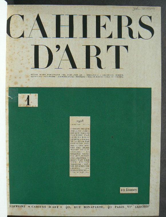 Cahiers d'Art, Troisieme Annee, 1928, Numbers 1-9/10. Revue d'art paraissant dix fois par an - Peinture - sculpture - architecture - musique - mise en scene - disques - cinema