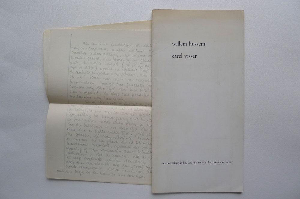 Welp Willem Hussem, schilderijen, gedichten. Carel Visser WI-17