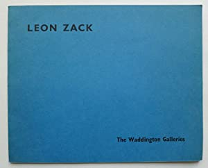 Leon Zack. The Waddington Galleries, December 1961.: ZACK, LEON.
